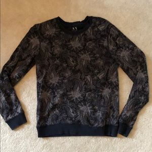 Armani Exchange navy floral sweatshirt xs